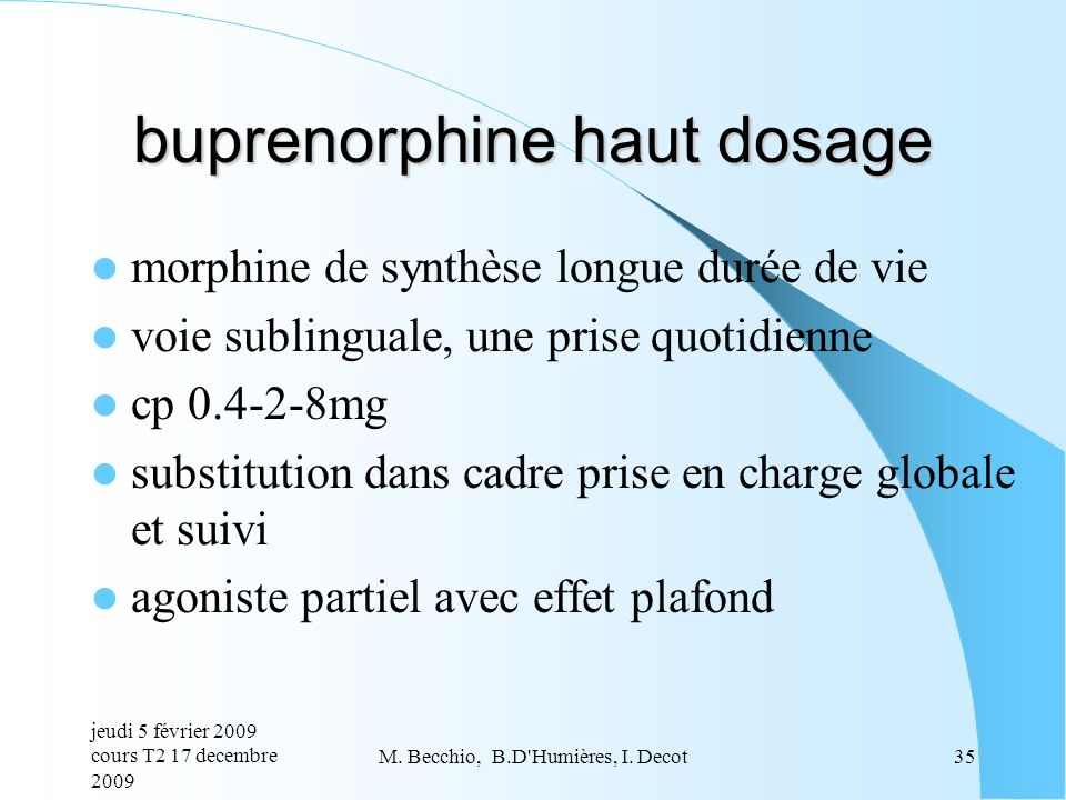 buprenorphine haut dosage