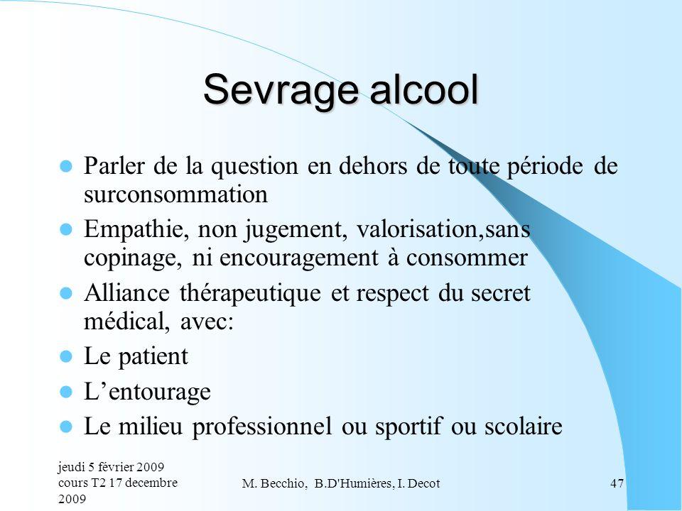 M. Becchio, B.D Humières, I. Decot