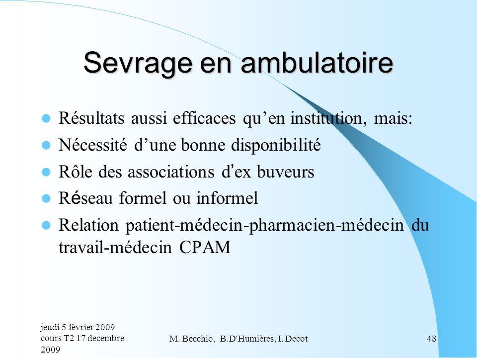 Sevrage en ambulatoire
