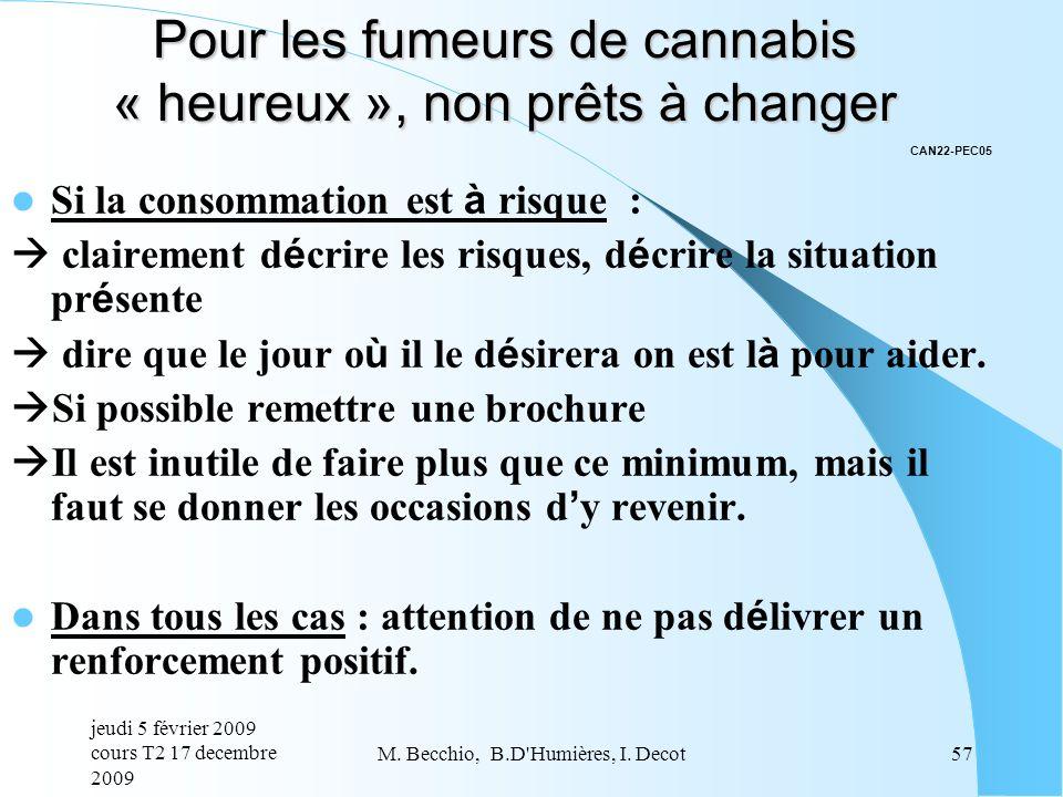 Pour les fumeurs de cannabis « heureux », non prêts à changer