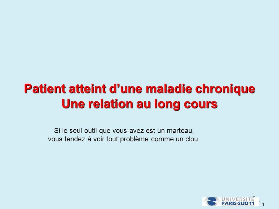 Patient atteint d'une maladie chronique Une relation au long cours