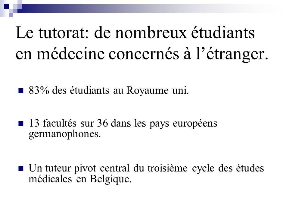 Le tutorat: de nombreux étudiants en médecine concernés à l'étranger.