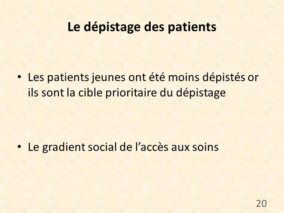 Le dépistage des patients