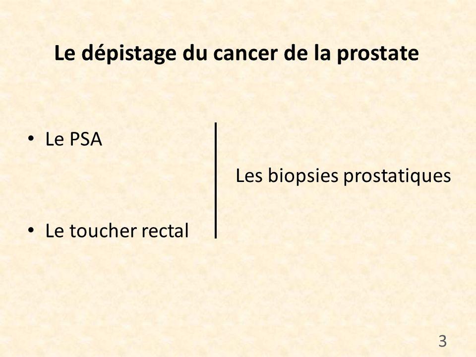 Le dépistage du cancer de la prostate