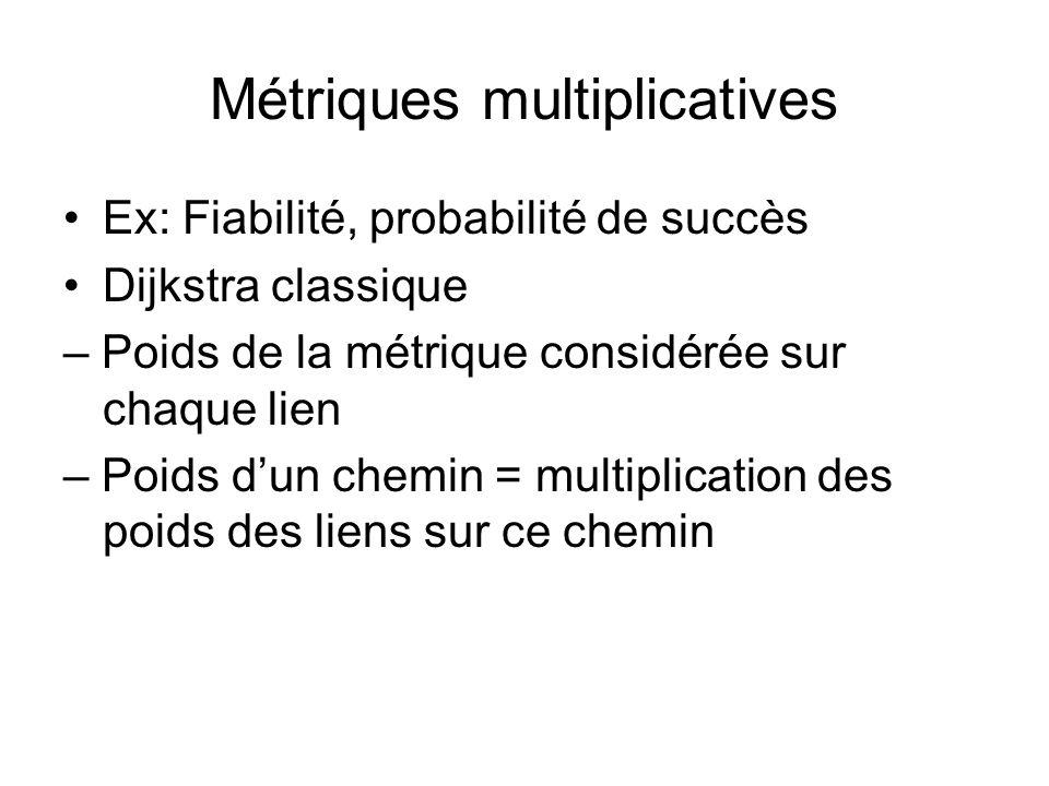 Métriques multiplicatives