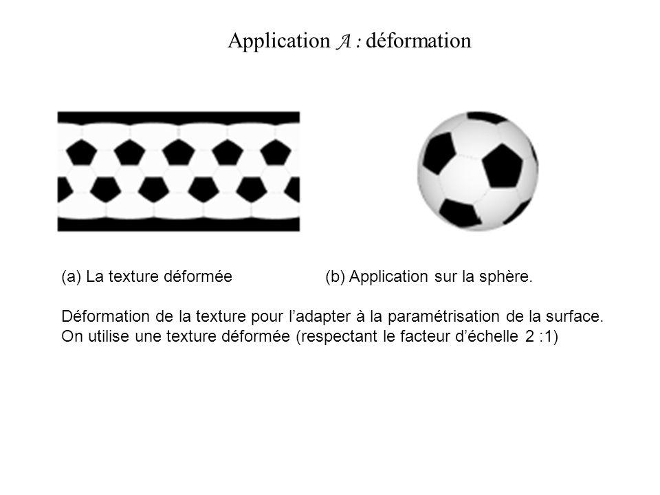 Application A : déformation