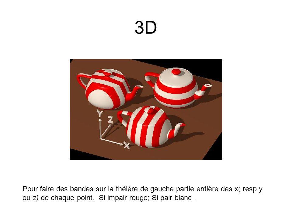 3D Pour faire des bandes sur la théière de gauche partie entière des x( resp y ou z) de chaque point.