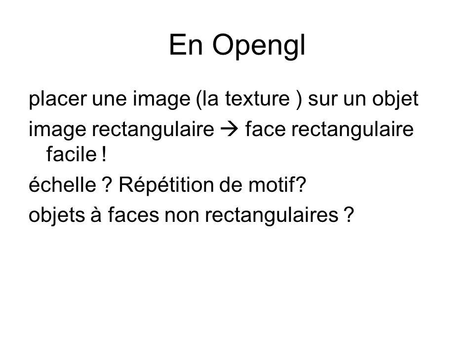 En Opengl placer une image (la texture ) sur un objet
