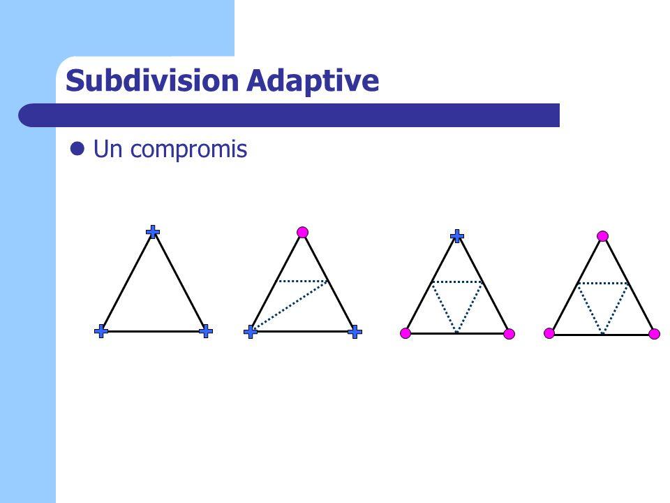 Subdivision Adaptive Un compromis