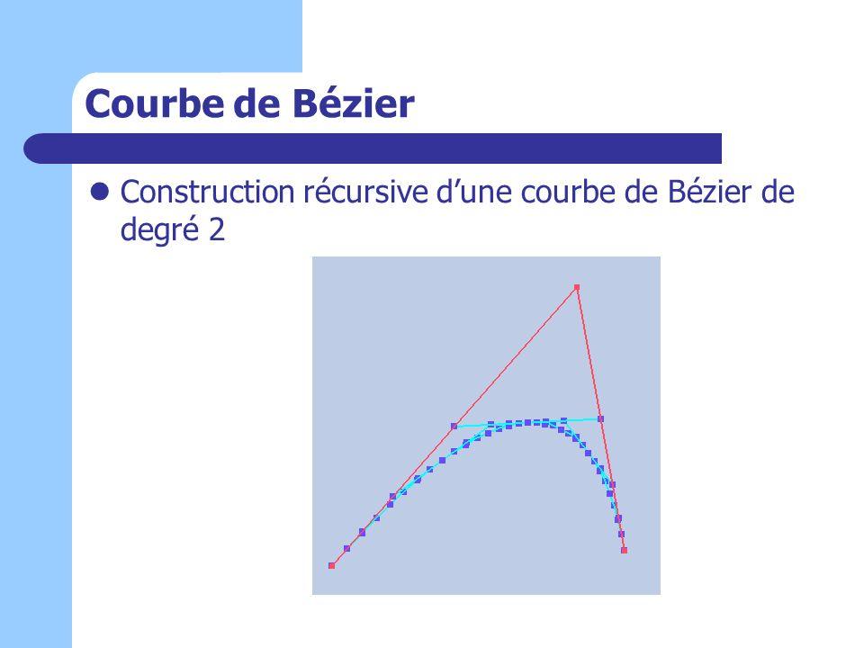 Courbe de Bézier Construction récursive d'une courbe de Bézier de degré 2