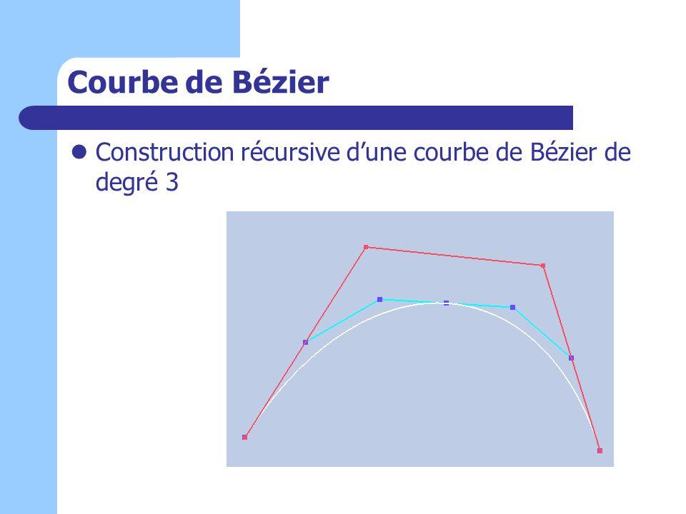 Courbe de Bézier Construction récursive d'une courbe de Bézier de degré 3