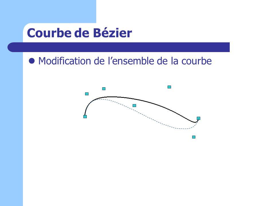 Courbe de Bézier Modification de l'ensemble de la courbe