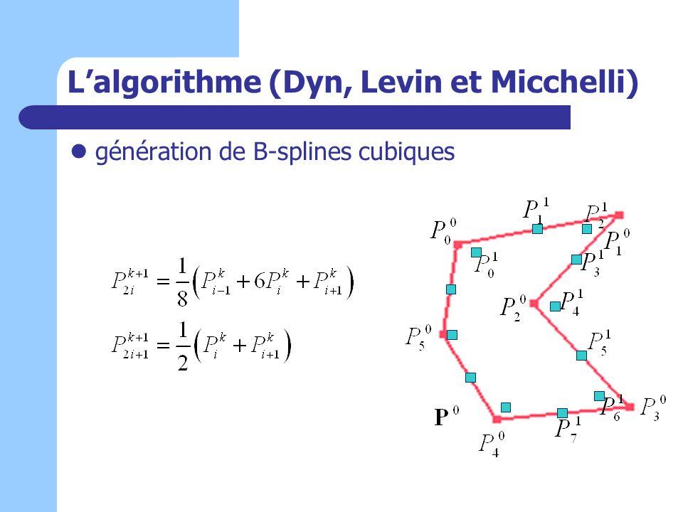 L'algorithme (Dyn, Levin et Micchelli)