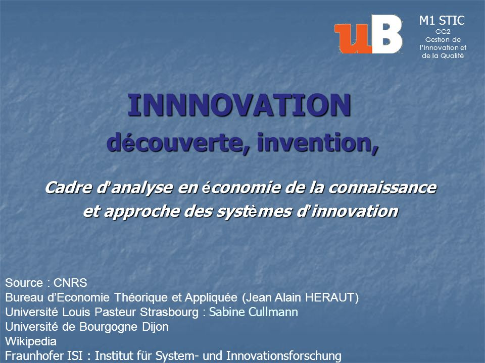 INNNOVATION découverte, invention,