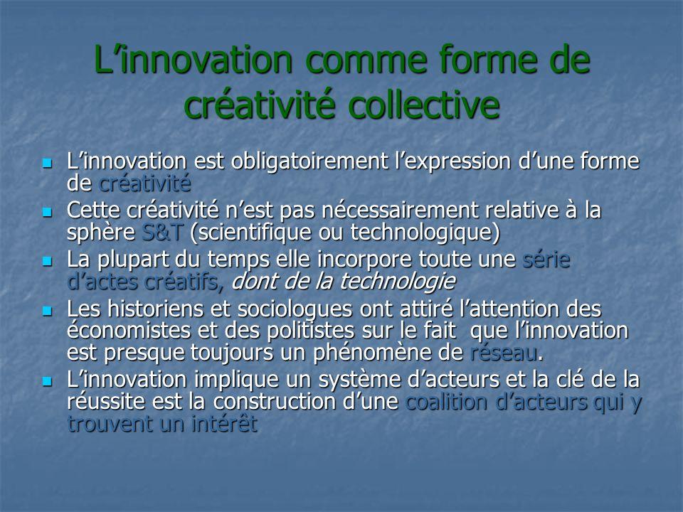 L'innovation comme forme de créativité collective