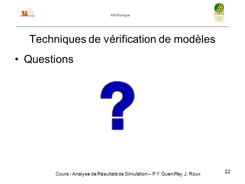 Techniques de vérification de modèles