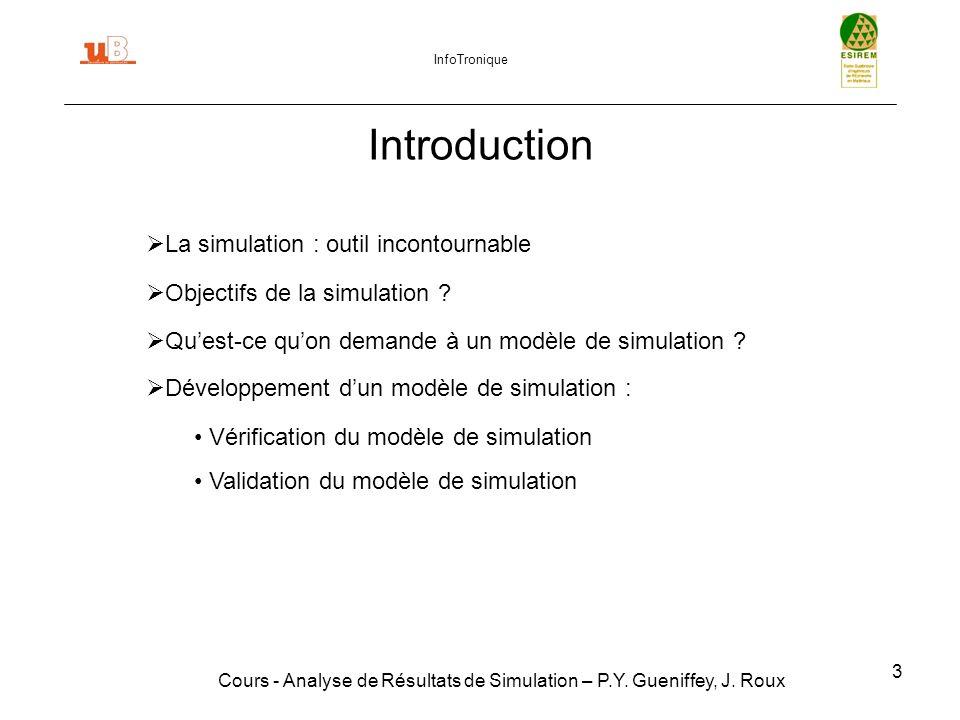 Introduction La simulation : outil incontournable