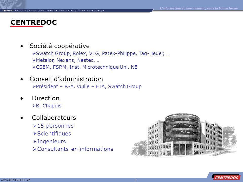 CENTREDOC Société coopérative Conseil d'administration Direction