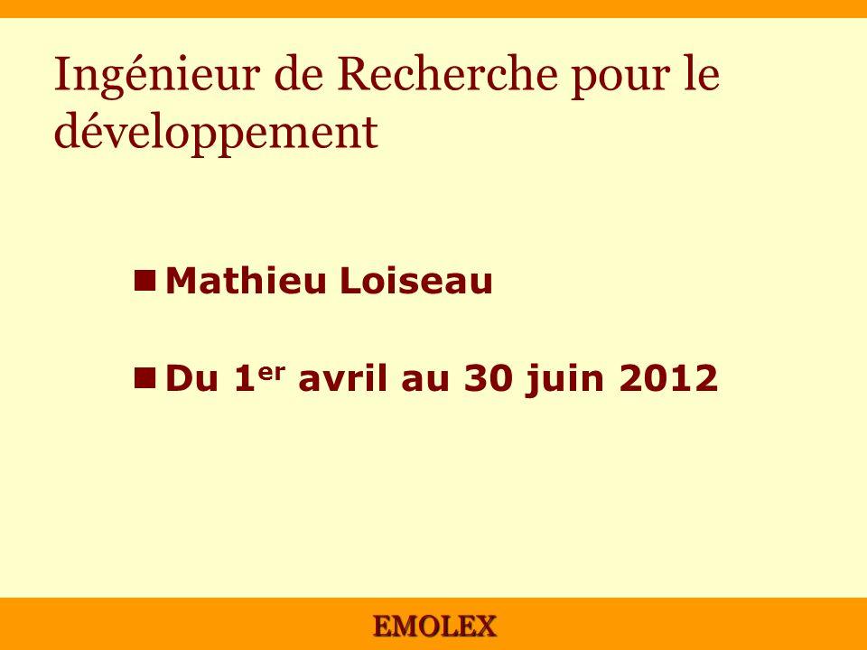 Ingénieur de Recherche pour le développement