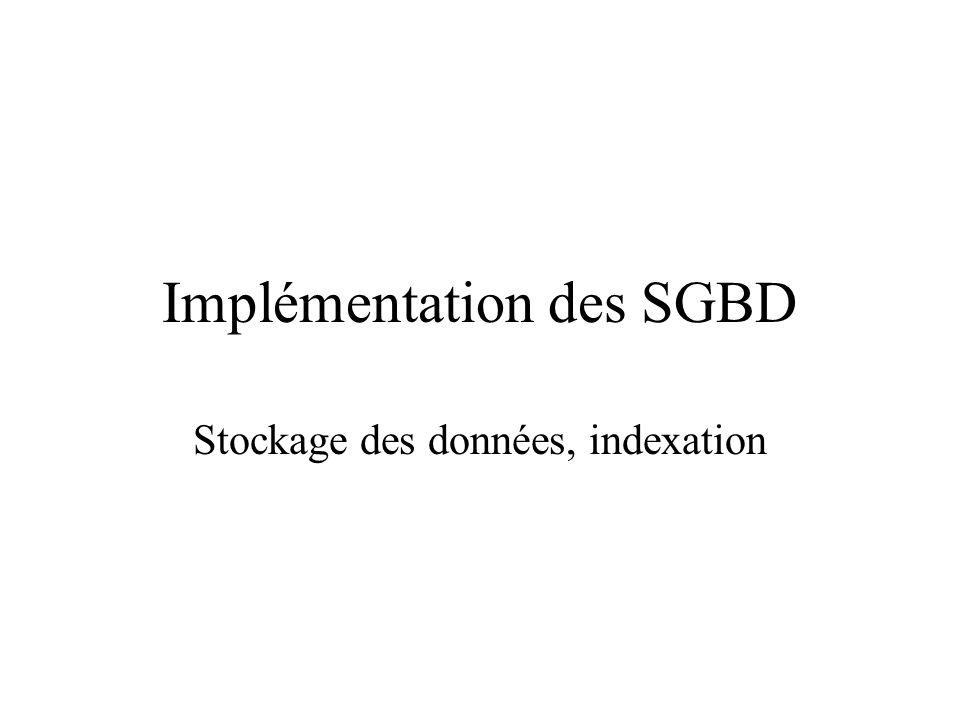 Implémentation des SGBD