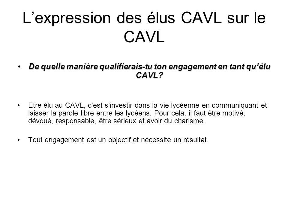 L'expression des élus CAVL sur le CAVL
