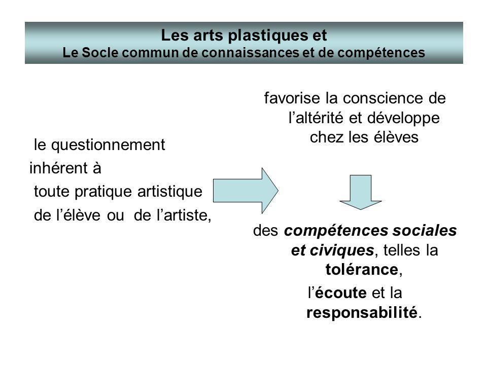 toute pratique artistique de l'élève ou de l'artiste,