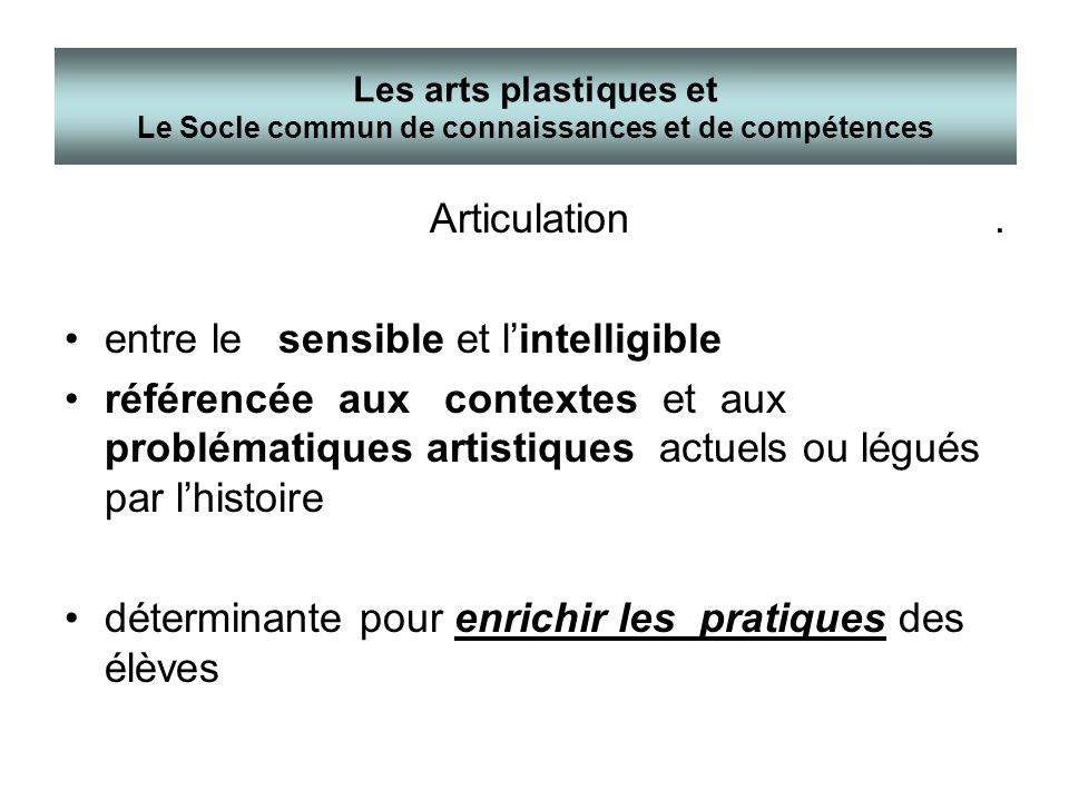 entre le sensible et l'intelligible