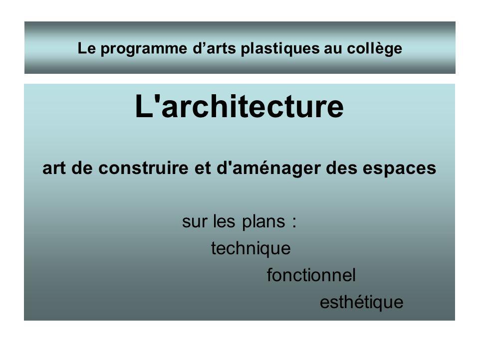 L architecture art de construire et d aménager des espaces