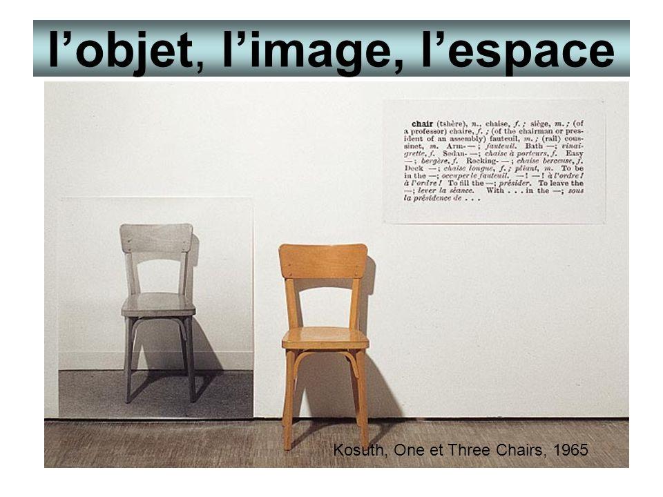 l'objet, l'image, l'espace