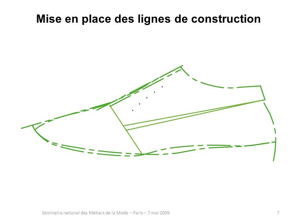 Mise en place des lignes de construction