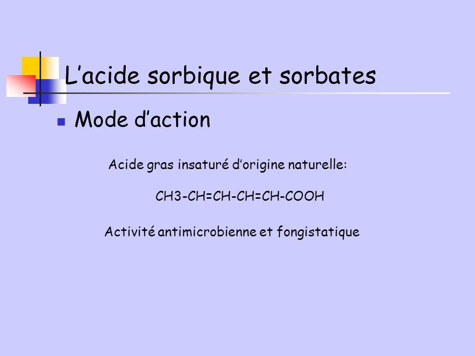 L'acide sorbique et sorbates