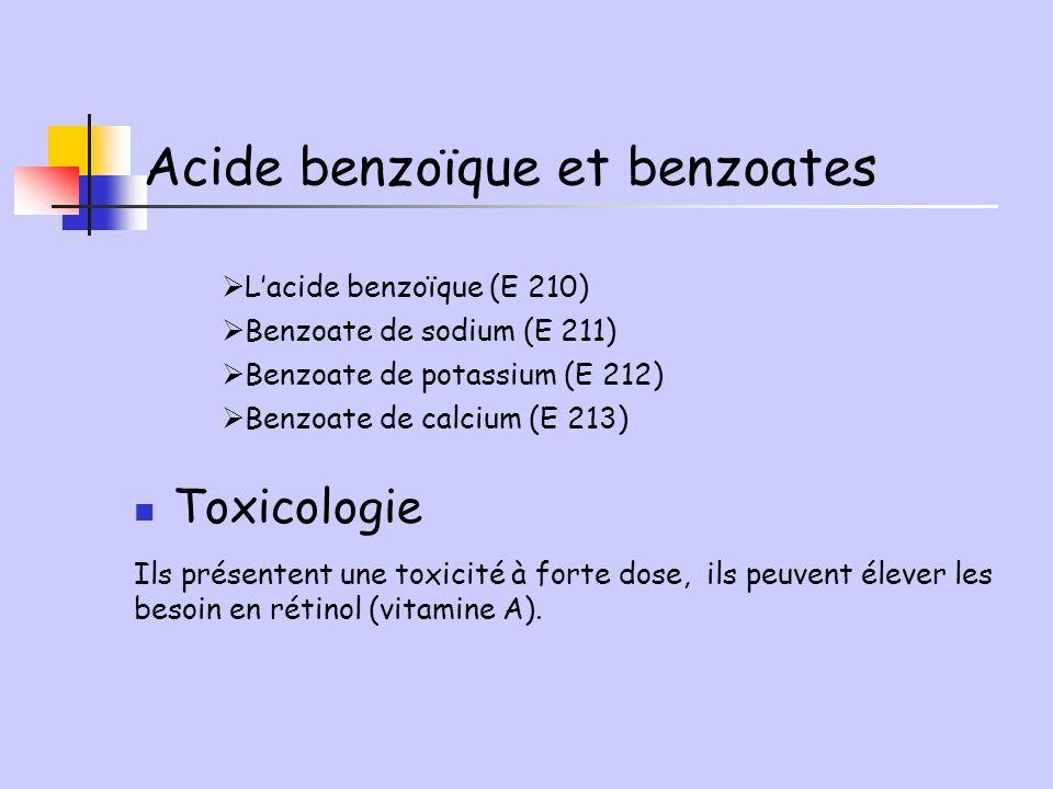Acide benzoïque et benzoates