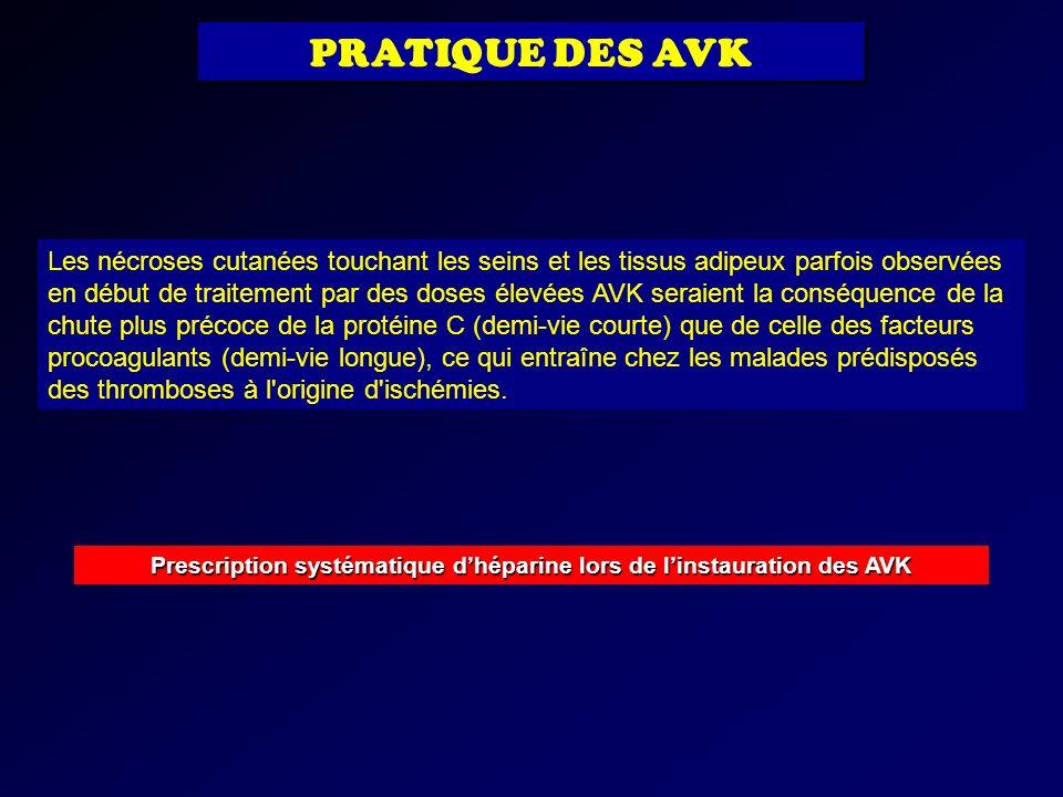 Prescription systématique d'héparine lors de l'instauration des AVK