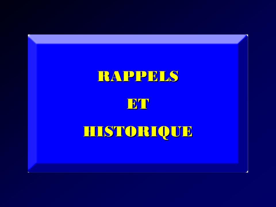 RAPPELS ET HISTORIQUE