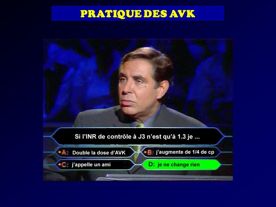 PRATIQUE DES AVK