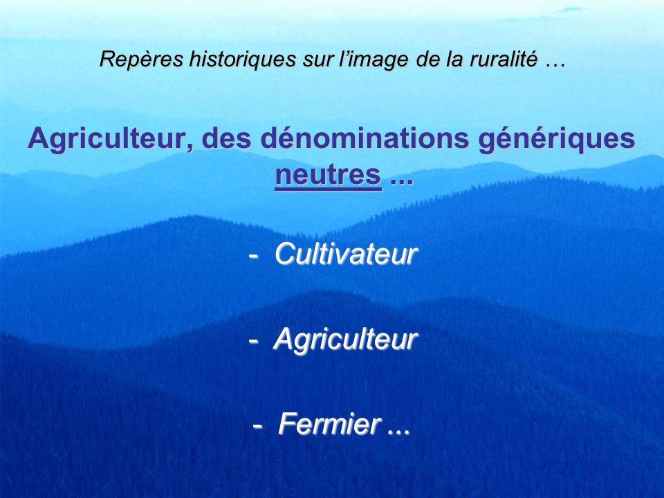 Repères historiques sur l'image de la ruralité …