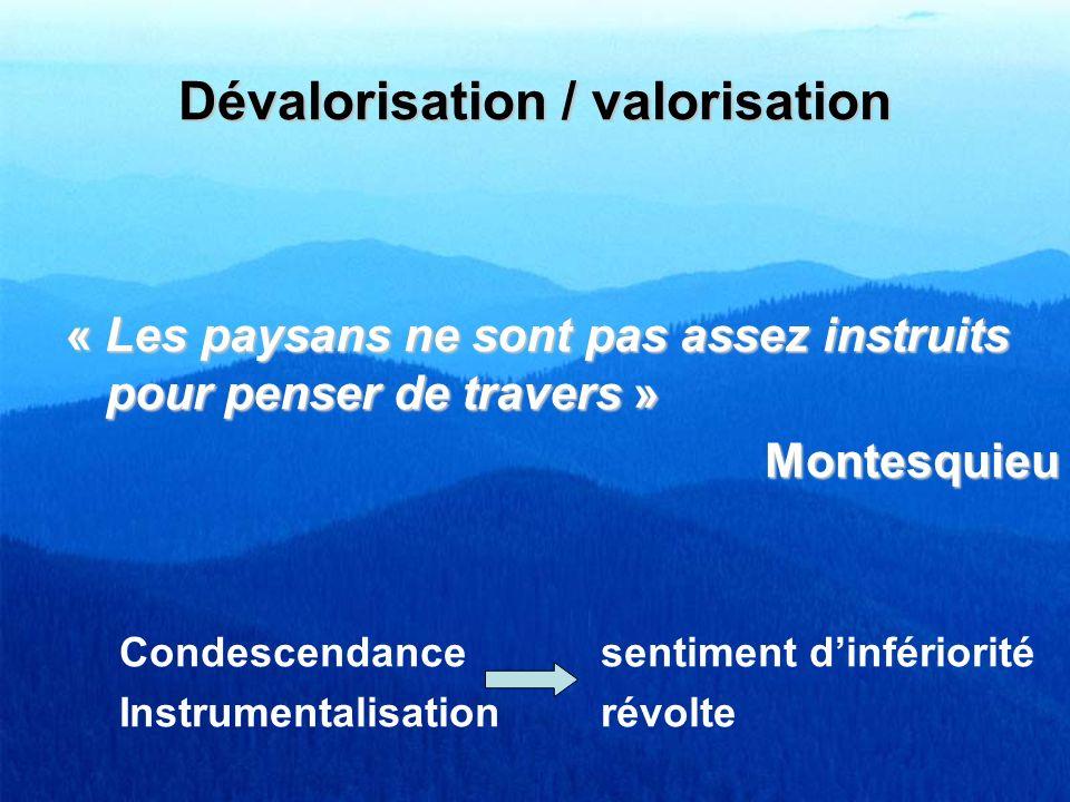Dévalorisation / valorisation