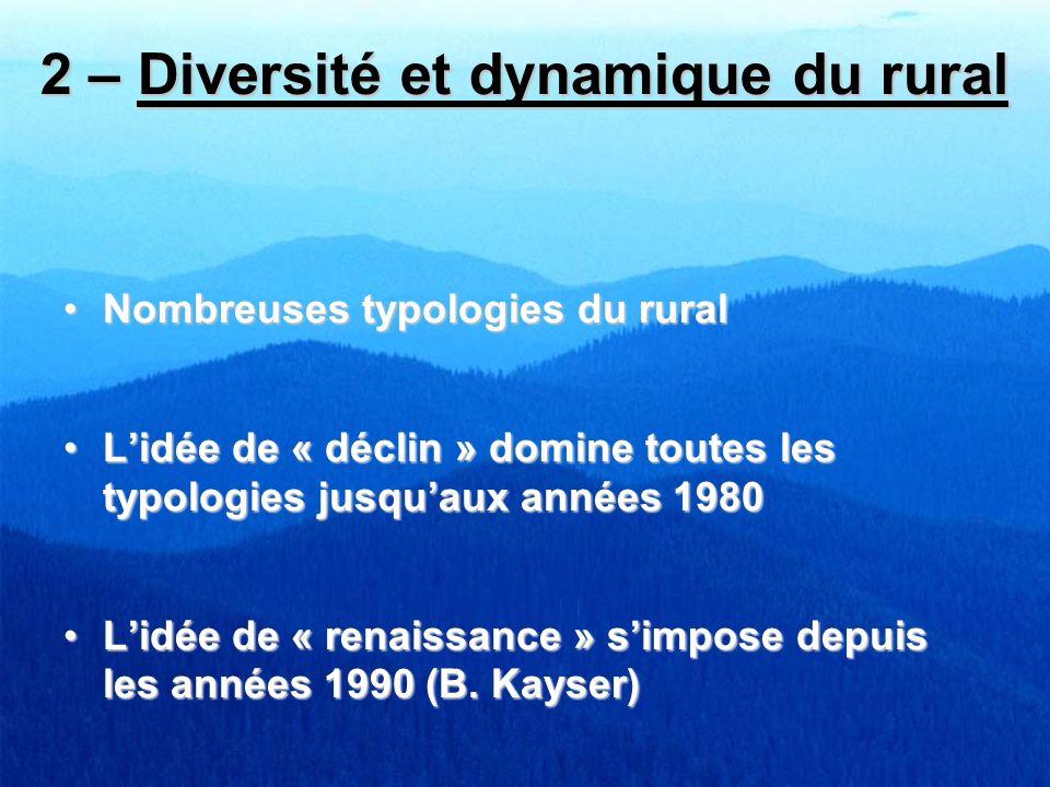 2 – Diversité et dynamique du rural