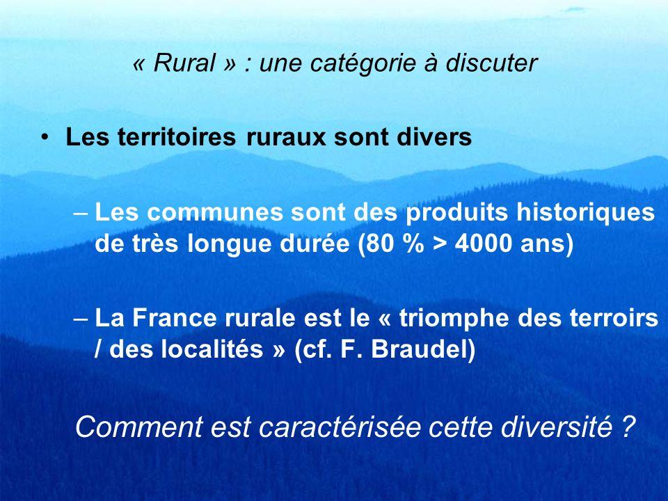 « Rural » : une catégorie à discuter