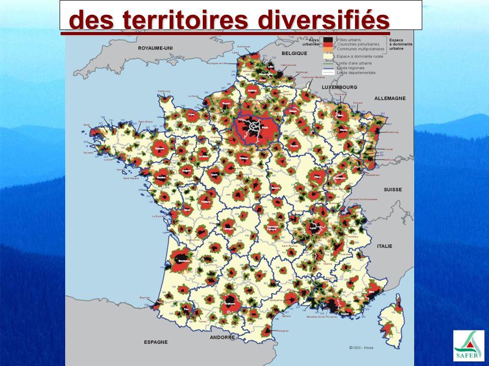 des territoires diversifiés