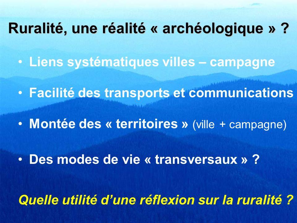 Ruralité, une réalité « archéologique »