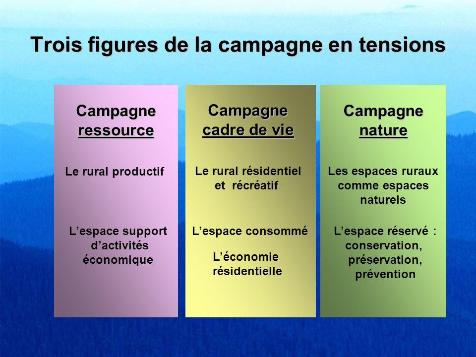 Trois figures de la campagne en tensions