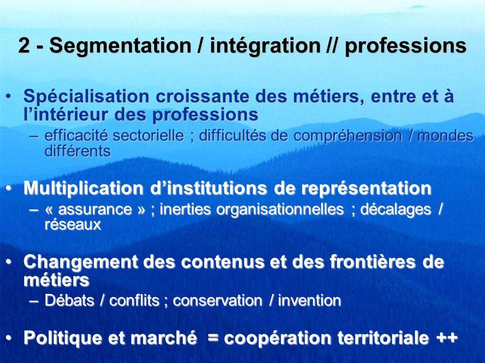 2 - Segmentation / intégration // professions