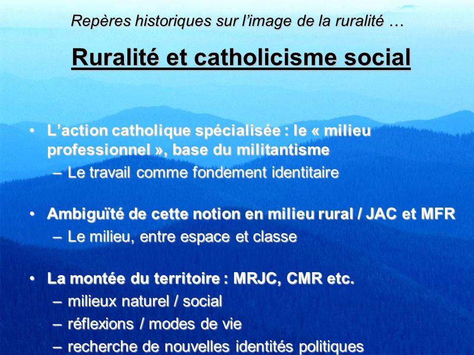 Ruralité et catholicisme social