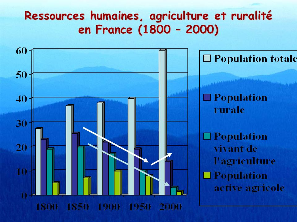 Ressources humaines, agriculture et ruralité en France (1800 – 2000)