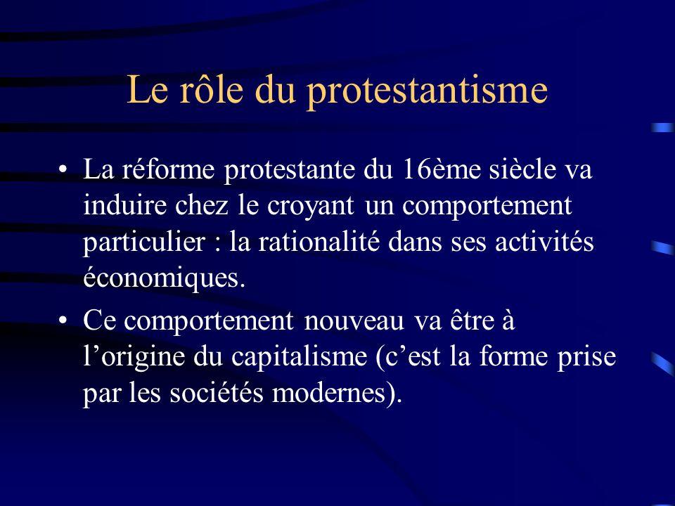 Le rôle du protestantisme