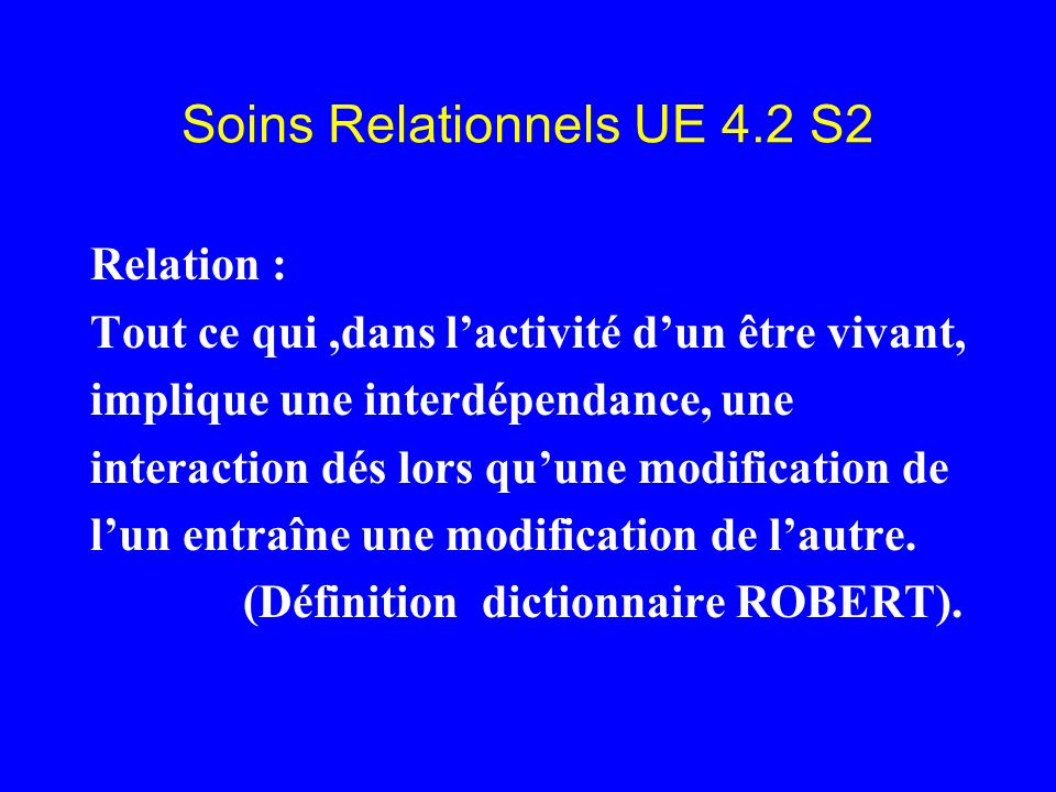 Soins Relationnels UE 4.2 S2