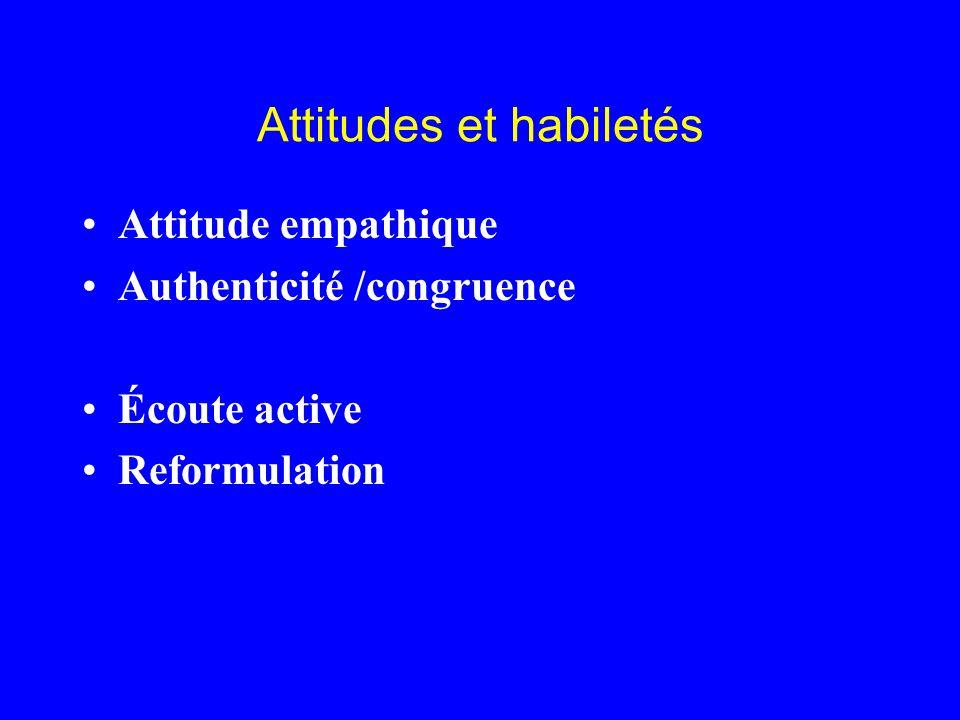 Attitudes et habiletés