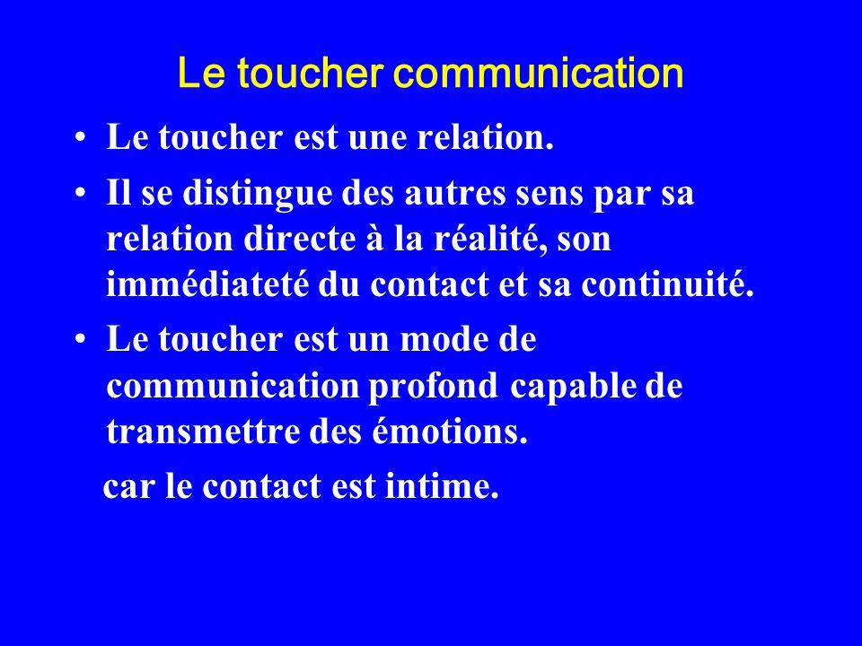 Le toucher communication