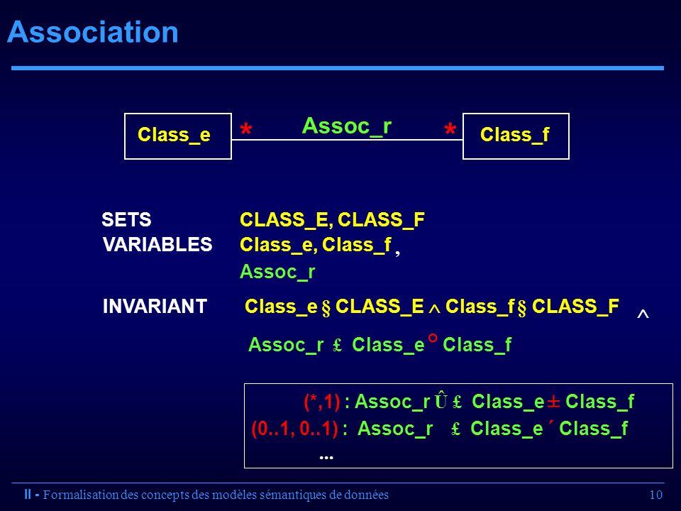 * Association Assoc_r , Class_e Class_f  Assoc_r £ Class_e ° Class_f